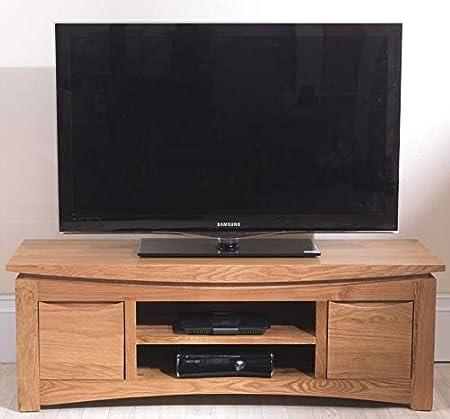 Media Luna de roble macizo muebles gabinete de televisión de Plasma unidad de soporte: Amazon.es: Hogar