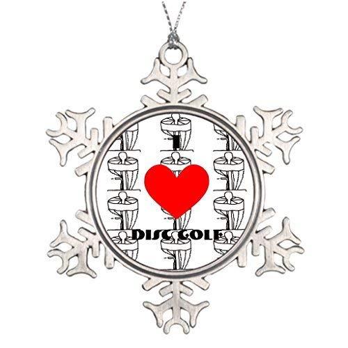wonbye Christmas Tree Ornaments, Tree Decorating Ideas Disc Golf Christmas Snowflake Ornament -