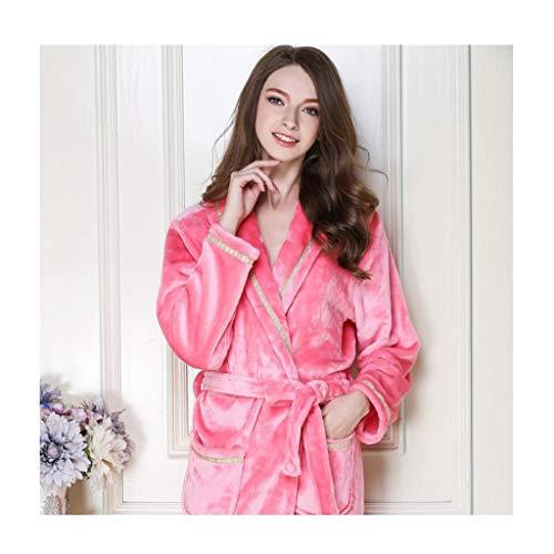 C Lujoso Talla De color Bata Tamaño B Suave Vestido Grueso Súper Xxl Albornoz Casa Baño Mujer Ceñidos Pijamas Fleece Gss Coral Para Grande XIpq7IB