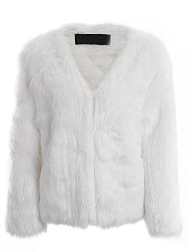 White Rabbit Fur Coat - 1