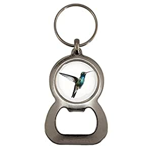 Hummingbird Image Design Metal Bottle Opener Keyring
