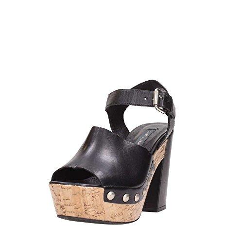 Janet Naturale Donna 37400 Nero Sport Sandalo 8vTB84O