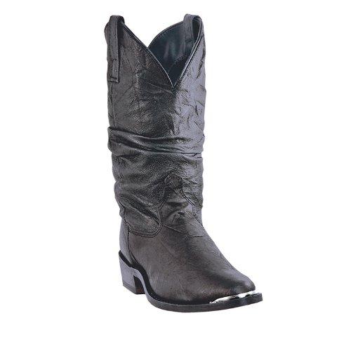 Dingo Men's 11'' Slouch Boots,Black,10.5 EW