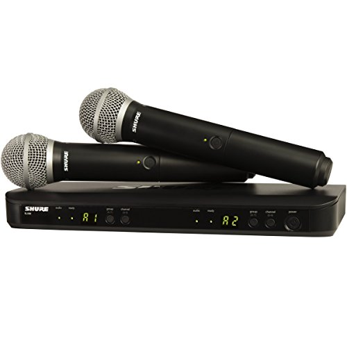 Shure BLX288/PG58 H8 | Dual Channel Handheld Wireless System by Shure