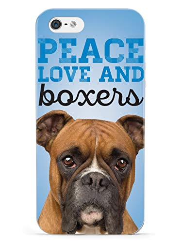 Inspired Cases - 3D Textured iPhone 5/5s/SE Case - Rubber Bumper Cover - Protective Phone Case for Apple iPhone 5/5s/SE - Peace Love and Boxers - Real Life