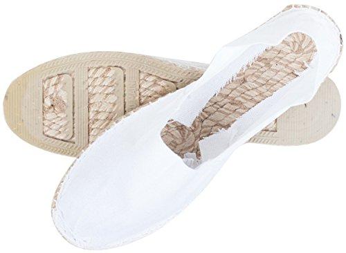 Sommerlatschen Espadrilles, Handmade, Weiß, Unisex, SL1232 Weiß (Weiß)