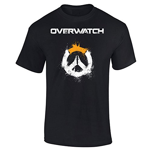 Art Graphic Tee - Slicksleek Apparel Overwatch Logo Art Graphic T-Shirt (Small, Black)