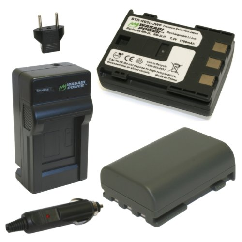 Wasabi Power Battery (2-Pack) and Charger for Canon NB-2L...