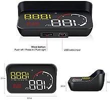 Car 3.8 12V HUD OBD2 Head Up Display KM//h /& MPH Speeding Warning Digital Alarm Display Windshield Projector Security Alarm for Most Popular Cars