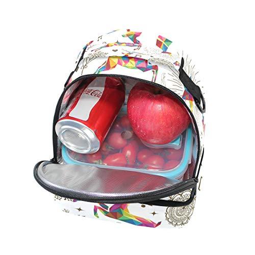 con almuerzo de Alinlo ciervo estrellas aislante diseño pincnic la hombro escuela con Bolsa ajustable correa para para con el de de nrxgr