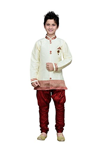 Aashima Fab Store Indian Designer Partywear Ethnic Wedding Cream Wedding Readymade Kids by Aashima Fab Store