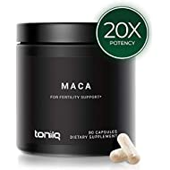Single Origin Wildcrafted Maca Root Capsules - Ultra High Strength - 10,000mg 20x Concentrated Extract - The Strongest Peruvian Maca Root Powder Available - Gelatinized Black, Red and Yellow Complex