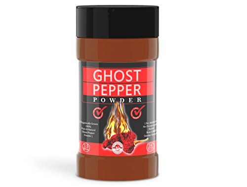 (Ghost Pepper Powder- 3.5 Oz, Smoked, Hottest & Spicy chilli powder (SMOKED BHUT JOLOKIA POWDER) Organically Grown - 3.5 Oz)