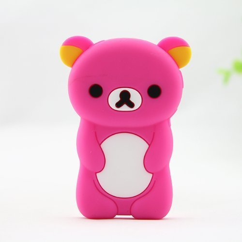Generation Silicone Skin - Phaetonnice 3D Cute Bear Silicone Skin Case Cover for Apple iPod Nano 7th Generation 7G - Rose