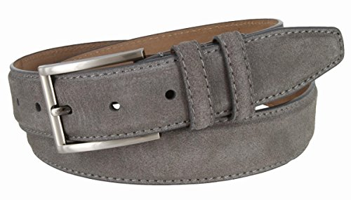 Granada Mens 100% Suede Nubuck Leather Dress Belt 1-3/8 Wide