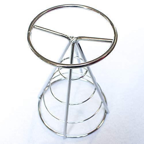 (️ Yu2d ❤️❤️ ️Chip Stand Holder French Fry Fries Bowl Black Metal Wire Kitchen Metal Fry)