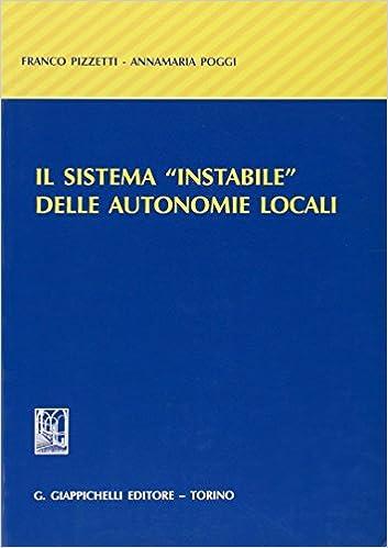 Book Il sistema «instabile» delle autonomie locali