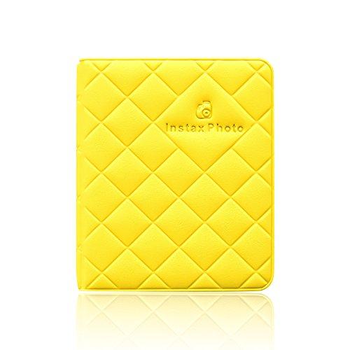 Jia Hu regalo de mini almacenamiento de 64bolsillos álbum de fotos para Fujifilm Instax Polaroid tamaño Macaron imagen...