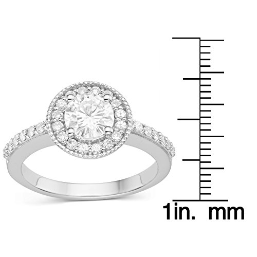 Forever Classic Round 6.0mm Moissanite Engagement Ring, 1.08cttw DEW by Charles & Colvard