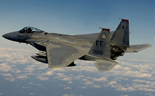 F-15 Eagle Fighter Fabric Cloth Rolled Wall Poster Print -- Size: (40