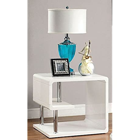 Ninove I End Table In White By Furniture Of America
