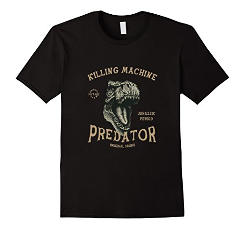 Men's Killing Maching Jurassic Period Predator T-Rex Dinosaurs Tee 2XL Black (Dinosaurs Perfect Predators)