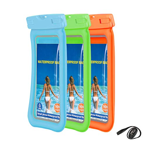 """Price comparison product image Weiye Universal Waterproof Phone Pouch - Cellphone Dry Bag Pouch for iPhone X,  8 / 7 / 7 Plus / 6S / 6 / 6S Plus,  Samsung Galaxy S9 / S9 Plus / S8 / S8 Plus / Note 8 6 5 4,  Google Pixel 2 HTC LG Sony Moto up to 6.0"""""""