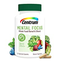 Centrum Mental Focus Nootropic Supplement, with Spearmint Extract and B-Vitamins Supports Focus, with Whole Food Blend, 30 Day Supply (60 Capsules)
