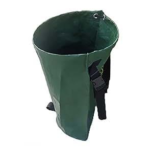 """syooy plegable jardinería hoja bolsa de basura Picking bolsa reutilizable y multiusos Ideal para la cosecha césped mantenimiento y más 11.8""""x 17.7"""" x 13.8"""""""