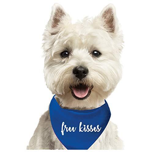 (Free Kisses Fashion Printed Dog Bandana (Assorted Colors))