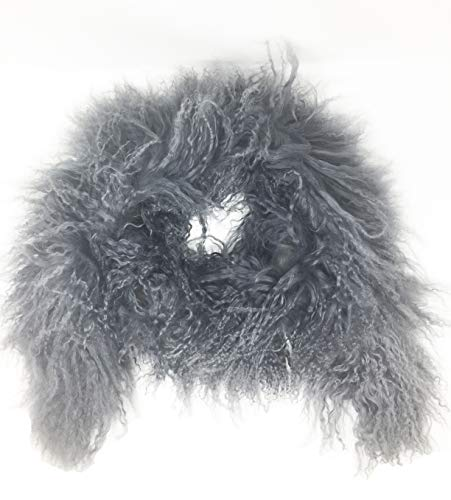 Jocelyn Tibetan Lamb Fur Scarf (Grey)