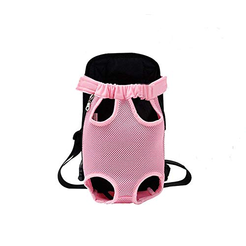 Legs Out Front Pet Carrier - YINGJEE Dog Carrier Pink Legs Out Front Pet Carrier Backpack Comfortable Puppy Bag with Shoulder Strap and Sling for Travel Hiking Camping Outdoor