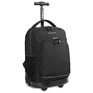 J World New York Sunny Rolling Backpack, Black, One Size