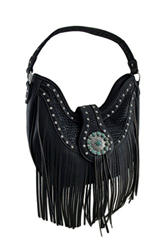 Zeckos Western Concealed Carry Saddle Bag Purse w/Fringe ...