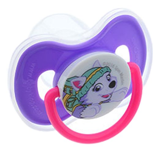 Paw Patrol pacifier with cover -- Purple / Everest