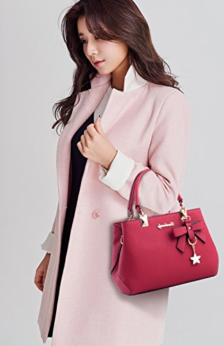 Wine Dreubea Shoulder Purse Tote Bag Crossbody Handbag Leather Womens Red BrTOBn8