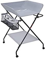 Family care/with Large Storage Space Folding Diaper Station for Small Spaces Changing Unit with Wheels Portable Nursery Infant Massage Station Dresser for Home and Travel (Size : B)