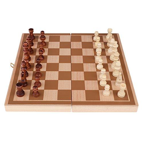 Baoblaze 美しい 木製 チェスセット 折りたたみ 収納でき 楽しいゲーム 贈り物 プレゼントの商品画像