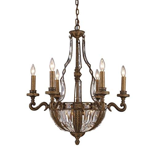 d 10-light Chandelier, Antique Bronze ()