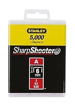 Stanley Klammern Typ A (10 mm, Klammern aus Runddraht fü r Elektro- und Handtacker Typ A) 5000 Stü ck, 1-TRA206-5T BLAMT