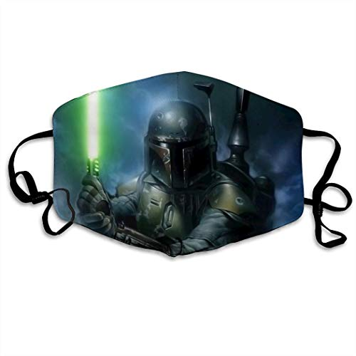 TRWDD CJD Jango-Fett-Darth-Vader-Stormtrooper Christmas Unisex Mask Indoor Outdoor Cycling Camping Travel Windproof Sun Anti Dust Mask Mouth with Adjustable Ear Loops
