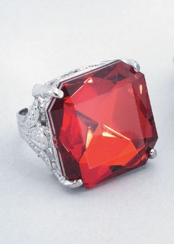 [Gothic Vampire Red Jewel Ring by Bristol Novelties] (Count Gothic Costumes)