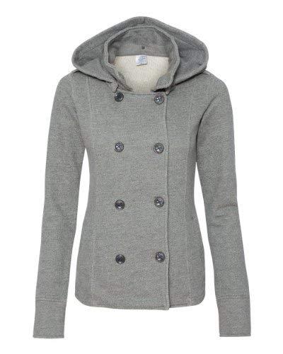 (Independent Trading Co. - Juniors' Premium Heavy Textured Fleece Pea Coat - PRM350PC)