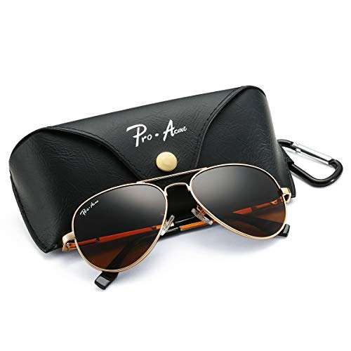 2f172ea344 Pro Acme Polarized Aviator Sunglasses for Men and Women 100% UV Protection