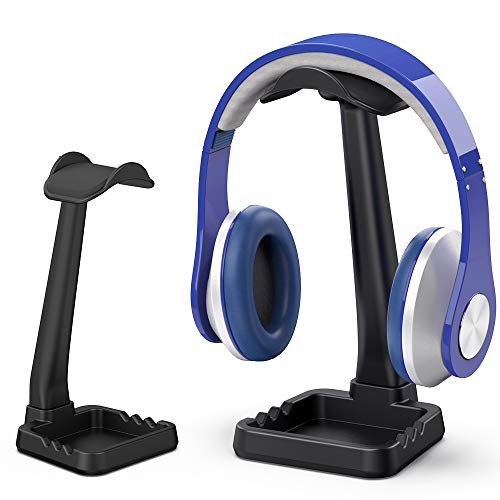 PC Gaming Headphone Stand Headset Hanger with Cable Holder for