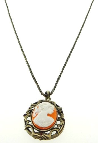 AXS300-018: Victorian Style Necklace with Magnifier Reading Lens