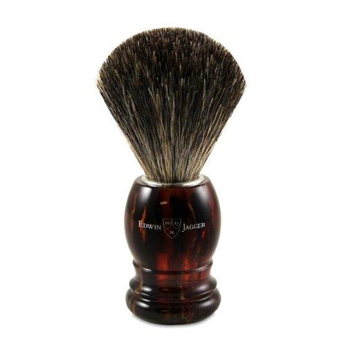Tortoise Best Black Badger Shave Brush by Edwin Jagger
