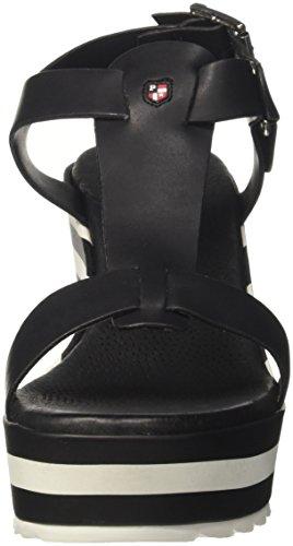 U.S.POLO ASSN. Theodora Rock, Sandalias con Plataforma Para Mujer Negro (Black)