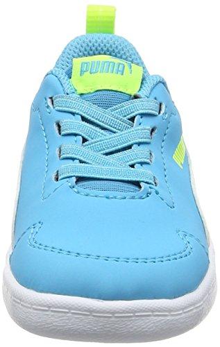 Puma Courtflex Inf, Zapatillas Unisex Niños Azul (Blue Atoll-puma White 02)