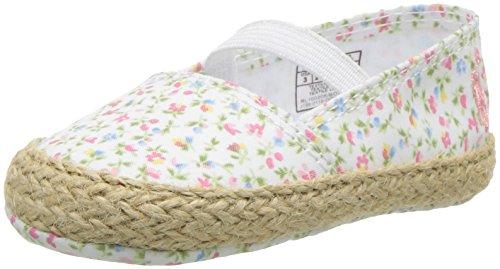 Polo Ralph Lauren Kids Girls' Bowman Crib Shoe, Paperwhite/Floral, 3 M US Infant Designer Infant Shoes